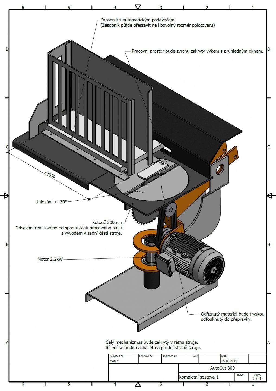 CNC pila zakázkový stroj