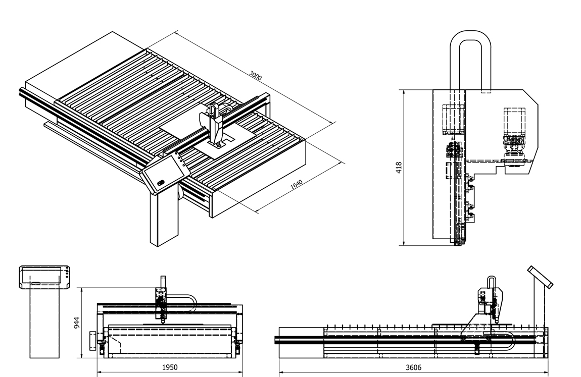 CNC plazma schema