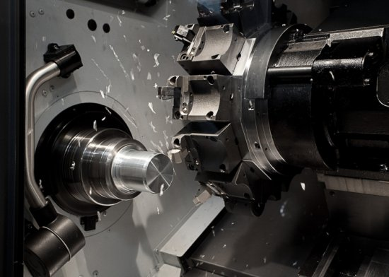 Machining and automatic tool change of a CNC lathe