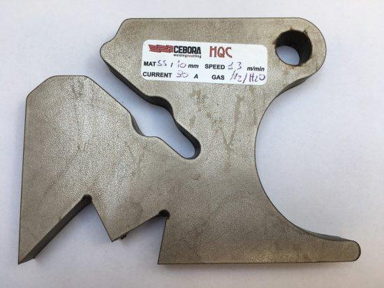 Vzorky výpalků CNC plazma CEBORA HQC