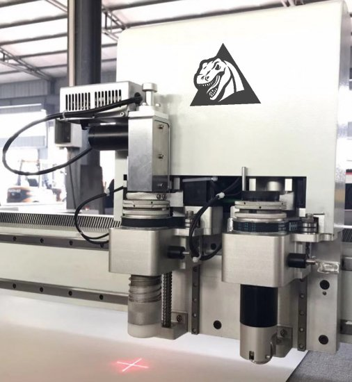 Combined working head of a CNC plotter