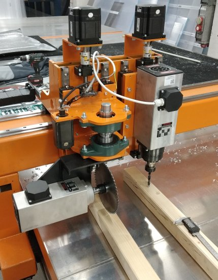 Combined working head of CNC router