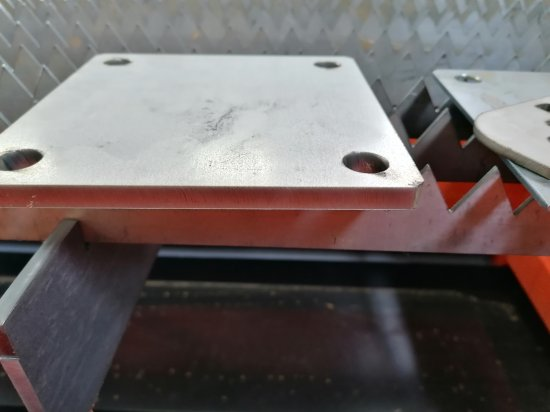 Raptor CNC plasma stainless steel sample