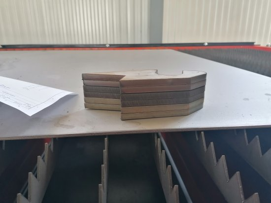 Samples of cuts from a CNC plasma cutter
